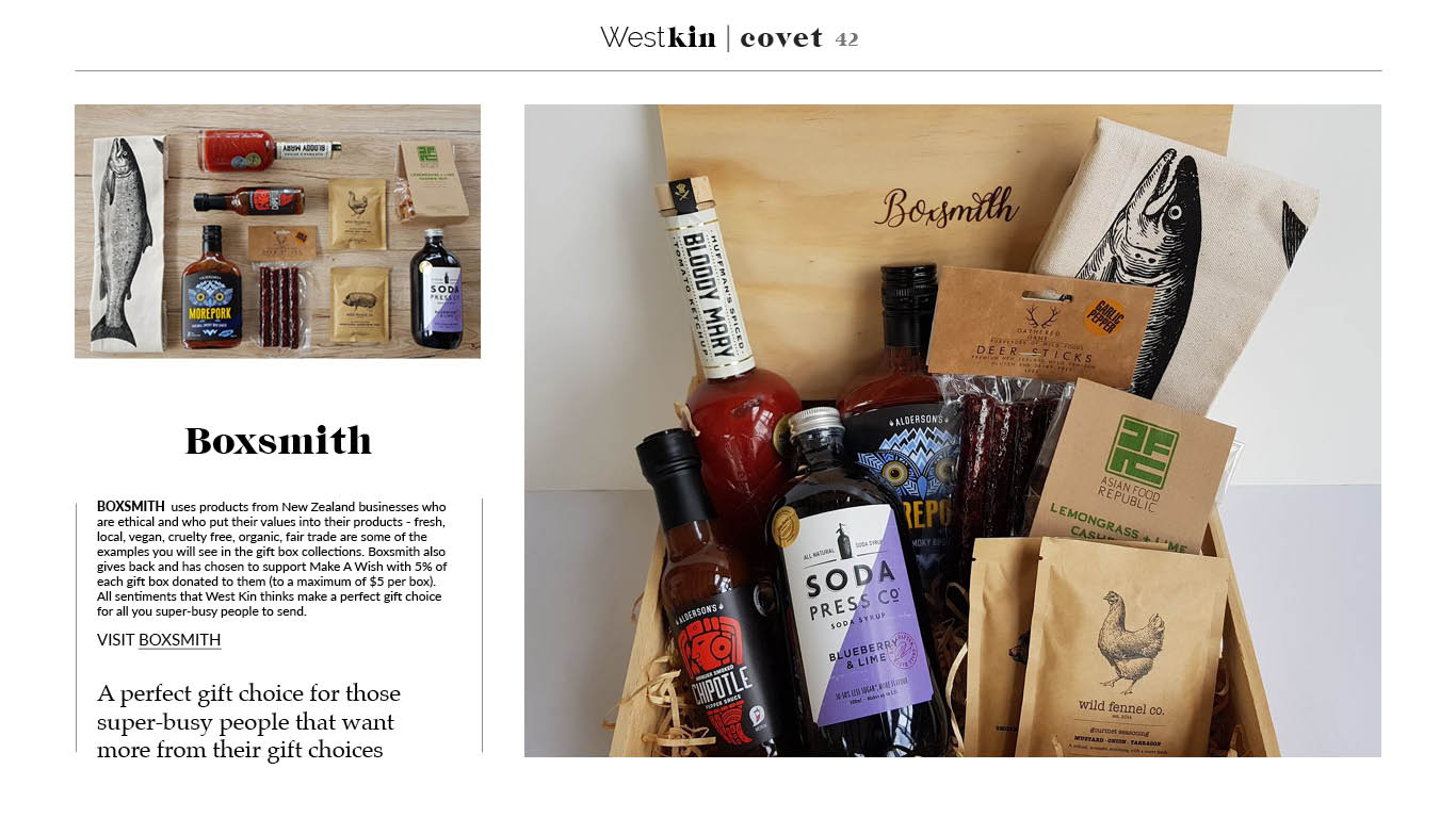 A local xmas gift guide featuring Boxsmith by West Kin magazine