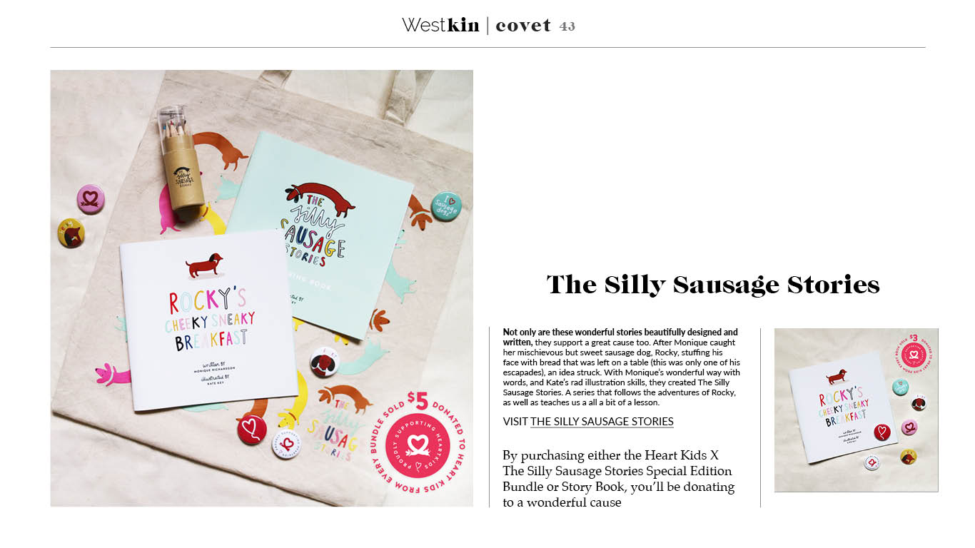 A local xmas gift guide featuring Silly sausage 2017 by West Kin magazine